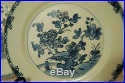 Pair of 18th century Kangxi (1680-1723) Antique Blue & White Chinese plates