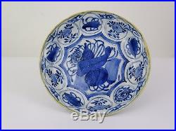 Pair of Blue and White'Kraak' Porcelain Dish