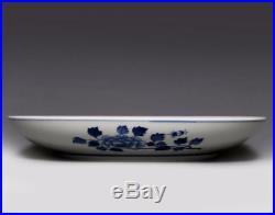 Qing Dynasty Rare China Blue And White Porcelain Plate Dish Mark KangXi NA222