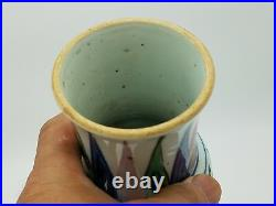 Qing Dynasty shun zhi Blue and White Five Colors Vase
