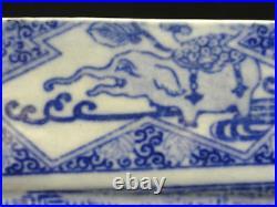 RARE 19 c EDO JAPANESE BLUE & WHITE TRANSFERWARE IZEGARA PLATE