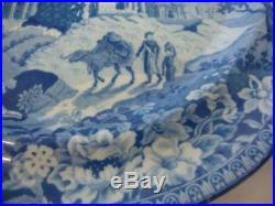 RARE Antique Rogers Staffordshire Blue & White MONOPTEROS Plate c1784-1835