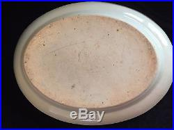 RARE Canton Export Serving Plate Blue & White Willow Qing 1840 Z213