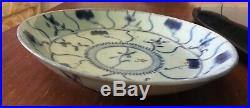 RARE Peoples Ware CHINESE Min Yao People's Ware blue & white porcelain plate