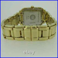 RAYMOND WEIL GENEVE SAXO 9110 Tank Watch 18K Gold Plate Bracelet RARE Lovely