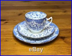 ROYAL ALBERT=BLUE & WHITE=1927-35=5698=T. C. W. =6 TRIO's=CAKE PLATE=CREAMER=SUGAR