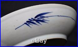 Rare Antique China Blue And White Porcelain Landscape Plate Qing Dynasty