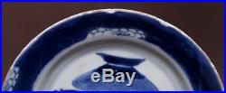 Rare Chinese Antique KangXi Old Plate Blue and white Flowers Porcelain Dish HX59