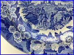 Rare Don Pottery Taormina Blue & White Transfer Print Pearlware Dish circa 1820