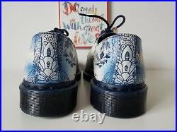 Rare Dr martens 1461 Willow China Plate Pascal shoes blue white UK 7 EU 41 US 9