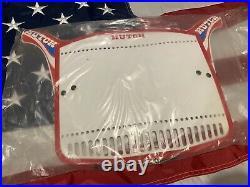 Rare Nos Og Bmx Hutch Number Plate Red White & Blue Factory Sealed