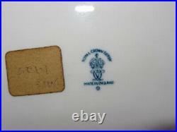 Rare Royal Crown Derby Ship Plate London Scene Blue & White Circa 1925