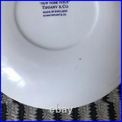 Rare Tiffany & Co New York Toile Blue and White Salad Plate 8.25 2002 England