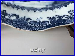 Relist Antique Chinese 18thC Qing Blue & White Serving Plate with Deers 32CM