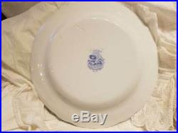 Ridgways c. 1830-34 England Oriental 12.75 Chop Plate Blue White Transferware NR