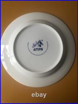 Rob Ryan White & Blue 4 Plate Set 23cm Four Trees Four Seasons Wild&wolf 2010
