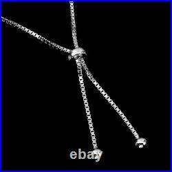 Round London Blue Topaz 7mm Cz 14K White Gold Plate 925 Sterling Silver Bracelet