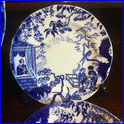 Royal Crown Derby Blue White Mikado Pattern Tea Ware Tea cups, Tea plates