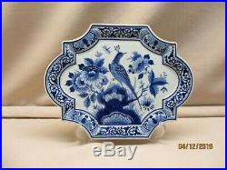 Royal Delft blue&white hand painted plaque marked Porceleyne Fles, yearsign 1991