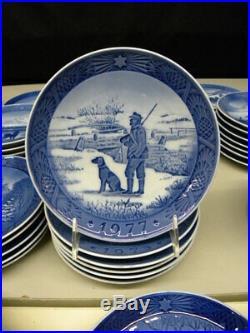 Run of 39 Royal Copenhagen Blue & White Christmas Plates 1960 2008 MINT (13)