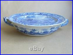 SPODE BLUE & WHITE DEATH OF THE BEAR 11¼ PLATE WARMER C1820 (Ref5453)