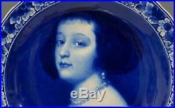 @ SUPERB @ Porceleyne Fles handpainted blue & white Delft charger van Dijck 1931