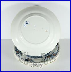 Set 4 Blue and White Fish Plate Dalrymple Powel & Bishop England 9