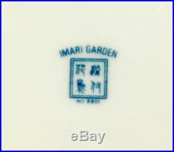 Set 4 Muirfield Imari Garden Dinner Plates Floral Cobalt Blue & White Porcelain