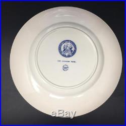 Set(5) Wedgwood Washington & Lee University Plates 10 3/4 Blue & White
