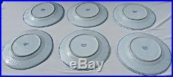 Set Lot 6 Vintage CHINESE Blue White RICE GRAIN Dragon Wan Yu Fiery Pearl Plates