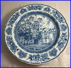 Set of 10 Wedgwood YALE UNIVERSITY Blue & White Dinner Plates Rare