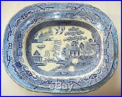 Set of 2 Antique Blue White Chinese Export Porcelain English Plates Dishes Bowls