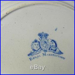 Set of 6 19thC Blue & White PLATES Spanish Beauties Antique Staffordshire