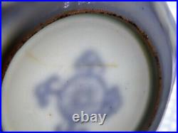 Small Antique Chinese Ming Transitional Blue White Octagonal Saucer Dish 17th C