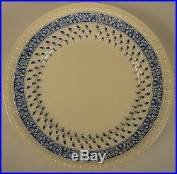 Spode Centurion c. 1931 Old Crow Blue White Large Dinner Plates Set Five 5 RARE