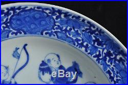 Superbe assiette Arita Blue White Japanese Plate porcelain Mark Chinese 19th