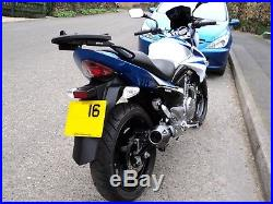 Suzuki Inazuma 250cc 16 Plate in Blue & White Only Done 1,277 Miles From New