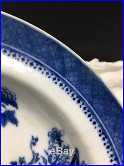 Three 18th Century Chinese Export Blue And White Porcelain Plate
