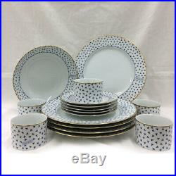 Tiffany & Co. Dancing T 16-piece party set plate bowl coco white blue new brand