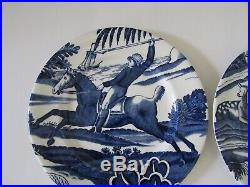 Tiffany & Co. MENAGERIE Blue & White 8 Plates Johnson Brothers England Set 4