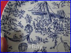 Tiffany & Co New York Toile Blue and White Salad Plates set x 4