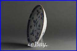 Top Quality! 18c Kangxi Blue & White Export Porcelain Plate Chinese Qing Antique