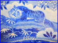 Transfer Printed Blue/white Meat Plate /ashet From Indian Sporting Series