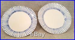 VIETRI Modello Salad plates Blue White Italy set of 6 Brand New