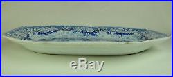 Very Large Staffordshire Blue & White Turkey/Meat Dish/Plate. Windsor Castle