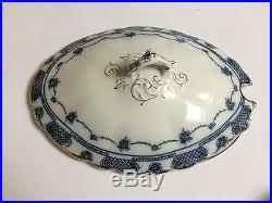 Victorian Dinner Service Blue White Wood England Plates Bowls Tureens Dining set