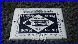 Vintage Carhartt Porcelain Sign Gas Oil Service Station Gasoline Rare Pump Plate