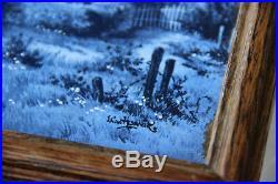Vintage DELFT Blue white pottery tiles landscape scene serving tray plate