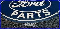 Vintage Ford Automobile Porcelain Gas Service Station Pump Plate Ad Metal Sign