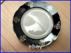 Vintage Korosten Cobalt Blue Porcelain 6 Plates Soviet Ukraine Russia USSR